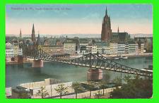 Frankfurt, Neuer Eiserner Steg mit Dom ungel. 1912