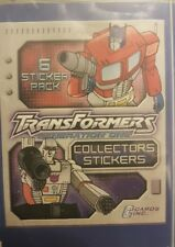TRANSFORMERS GENERATION ONE X5O LOOSE STICKERS