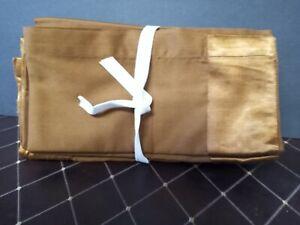 "LUX Crate & Barrel Placemats - Copper Silk Trim - HARD TO FIND Set of 12 - 21""Sq"