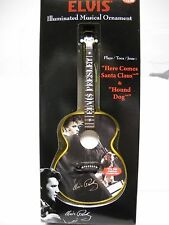 ELVIS Light Up Musical GUITAR Ornament*2 Songs*Collectible*Illuminated~FREE SHIP