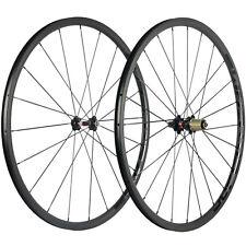 SUPERTEAM Carbon Road Bicycle Wheelset 24mm Depth Clincher Bike Wheels 3k Matte