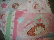 pink Strawberry Shortcake twin flat sheet & pillow case bedding
