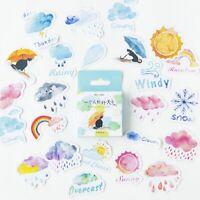 46Stück Tagebuch Sticker Papier Aufkleber Deko Kawaii Scrapbooking Etiketten Set