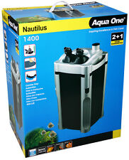 Aqua One A194114 Nautilus 1400 Canister Filter for Fresh&Marine Tanks, Reptiles