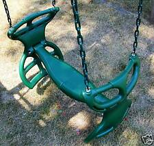 Swingset back to back glider swing, play set double glider,horse swing,PVC,54,GY