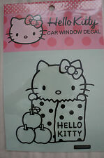 Authentic Sanrio Hello Kitty Apple Car Window Decal NIB