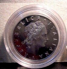 50 Lire 1987 Proof Fondo Specchio