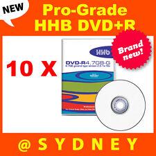 10 x NEW HHB DVD-R 4.7GB-G Pro-Grade Recordable DVD Blank Discs
