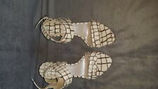 Ladies Dior Cream Reptile Print High Heel Sandal size Euro 36.5/US 6 -6.5 MINTsb