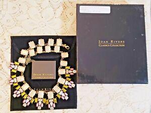 IOB Joan Rivers Colorful Rhinestone Statement Collar Necklace
