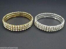 Ciondoli di lusso di colore fantasia oro con pietra principale strass
