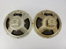 "Pair of Vintage Quam 12A4PA 12"" Inch Speaker Woofer Tested 8 Ohms"