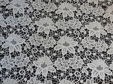 Ivory bridal wedding floral lace fabric vintage cotton lace fabric Per 0.5Meter