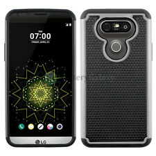 NEW Hybrid Rugged Rubber Protector Hard Case for Android Phone LG G5 Gray HOT!