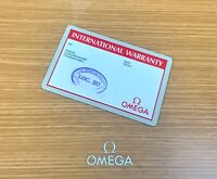 Auth Omega Speedmaster International Warranty Card. Blank Cards