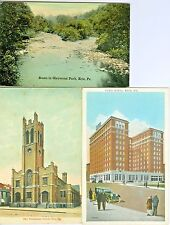 Erie PA  Collector's Set of 3, Glenwood Park, Ford Hotel & Presbyterian Church