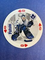 1998-99 Bicycle Playing Card Queen Of Hearts Felix Potvin Toronto Maple Leafs