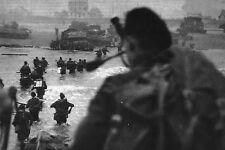 WW2 -Photo - Débarquement des Britanniques à Sword Beach le 6 juin 1944