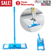 360° Microfiber Mop Hardwood Floor Dust Hairs Cleaning Washable Refill Pads Kit