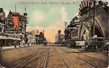 1911 Stores Dreamland Entrance Surf Ave Coney Island NY post card Brooklyn