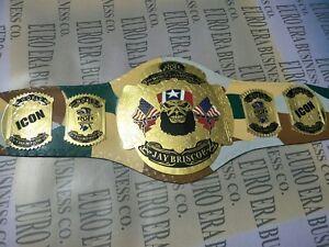 New ROH Jay Briscoe wrestling championship Belt, Adult Size & Metal Plates