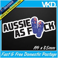 Aussie As FCK Sticker/ Decal - Australia Bogan Thongs Drift Turbo Bomb JDM 4x4