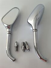 Universal Custom Small Motorcycle Golf Club Mirrors fit for Harly Yamaha chrome