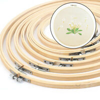 Wooden Bamboo Embroidery Cross Stitch Tapestry Ring Hoop Round Frame 13-34CM