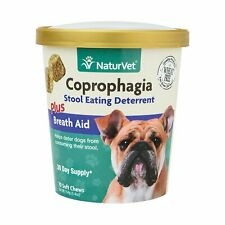 NaturVet COPROPHAGIA Plus Breath Aid Stool Deterrent Soft Chew Dogs 70 count