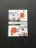 2019-20 UPPER DECK PREMIER DOBSON/WAHLSTROM ROOKIE DUAL JERSEY SILVER #ed 41/99