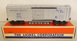LIONEL #6464-1 SUPER CLEAN WESTERN PACIFIC BOX CAR W/BLUE LETTERS-EX+ IN OB!