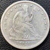 1840 Seated Liberty Half Dollar 50c Philadelphia High Grade XF #13474