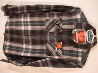 Superdry Lumberjack Twill Mens Brown Plaid Long Sleeve Cotton Shirt S