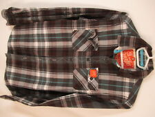 Superdry Lumberjack Twill Mens Brown Plaid Long Sleeve Cotton Shirt S