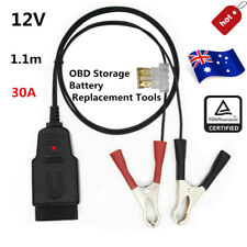 12V 30A OBD2 Car Battery Replacing Connector Tool Power-off Memory Device Cable