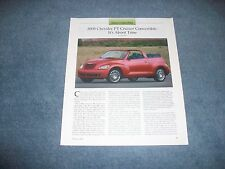 "2008 Chrysler PT Cruiser Convertible Info Article ""It's About Time"""