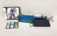 Nintendo 3DS blue System Bundle 7 Games, 8gb sd card, Fully Tested