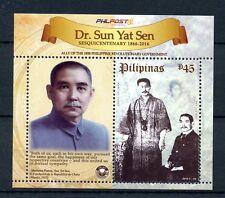Philippines 2016 MNH Dr Sun Yat Sen 1v M/S Politicians Presidents Stamps