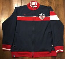 9bb124852 Nike USA National Team Soccer Full Zip Cotton Track Sweatshirt Jacket Mens  XL