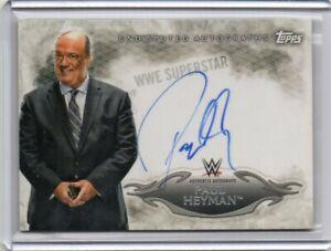 2015 TOPPS WWE UNDISPUTED ECW AUTOGRAPH AUTO ON CARD PAUL HEYMAN RARE