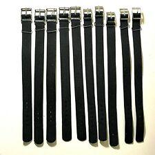 Vintage Lot 10 pcs Strap for  Wristwatch black lug 14,16,17,18mm USSR NANO STRAP