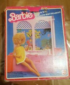 1981 Beauty Bubble Bath Barbie Bagno di Bellezza SOLO SCATOLA