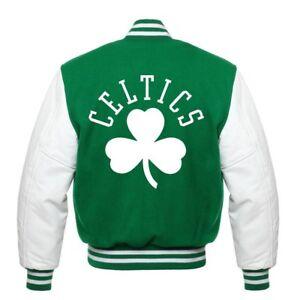 NBA Boston Celtics Rare beautiful Varsity jacket small medium  Large XL 2XL 3XL