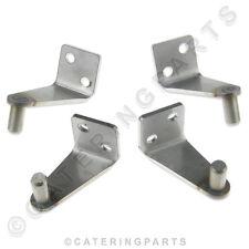 PARRY 7013 RANGE OVEN DOOR HINGES FULL SET OF 4 HINGE BRACKETS UPPER LOWER PINS