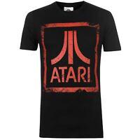 Character Mens Atari T Shirt Crew Neck Tee Top Short Sleeve Lightweight Cotton