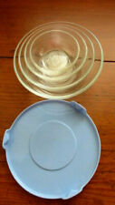5 Piece Small Vintage Duralex Nesting Prepping Mixing Bowls w/Lid Made in France