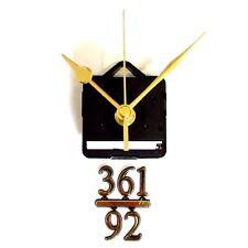 Silent Quartz Clock Making Kit - 20mm Gold Numbers 3,6,9,12 - 73mm Gold Hands