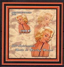 2002 MOZAMBIQUE -40° Aniversário Morte de Marilyn Monroe - bloco196 ND-MNH#4057