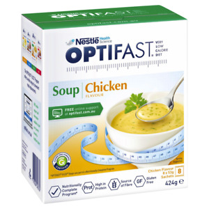 Optifast VLCD Chicken Soup 8 x 53g Sachets (424g) Low Calorie Meal Replacement