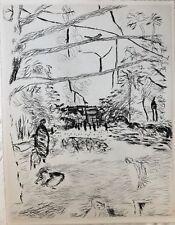 FAUBOURG SAINT HONORE GRAVURE DE PIERRE BONNARD 1937